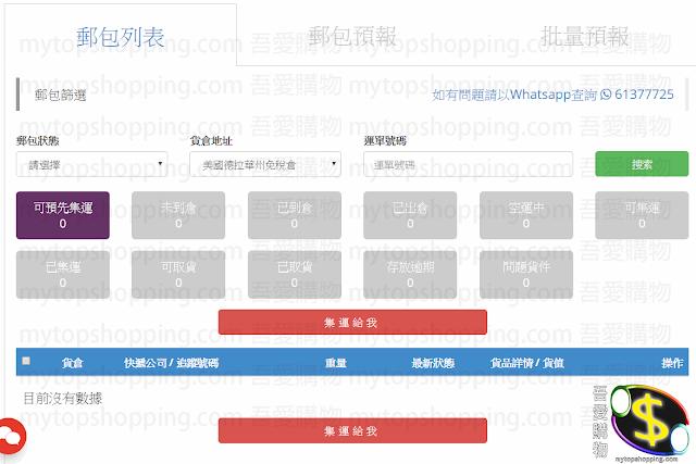 Shipbao集運郵包預報