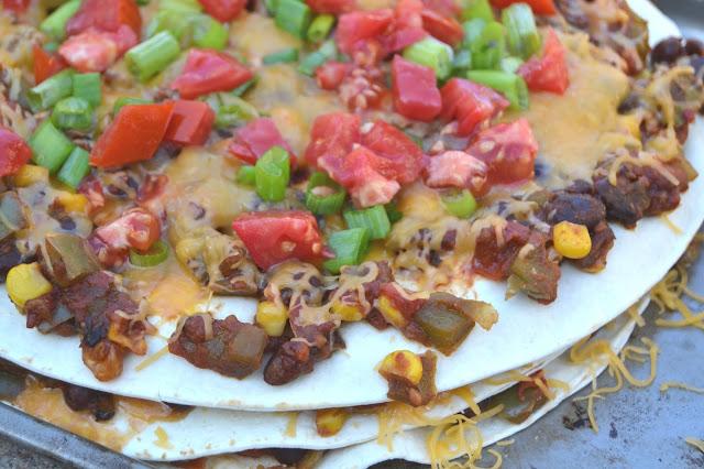 Vegetable Black Bean Tortilla Stack