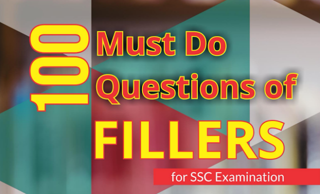 SSC CGL English 100 Filler Based Questions with Answers PDF Download