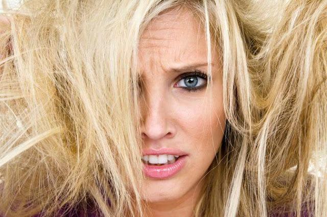 الشعر المتقصف من الامام