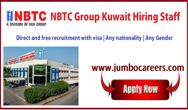 NBTC Group Kuwait Hiring Engineers and Officials with Free Visa