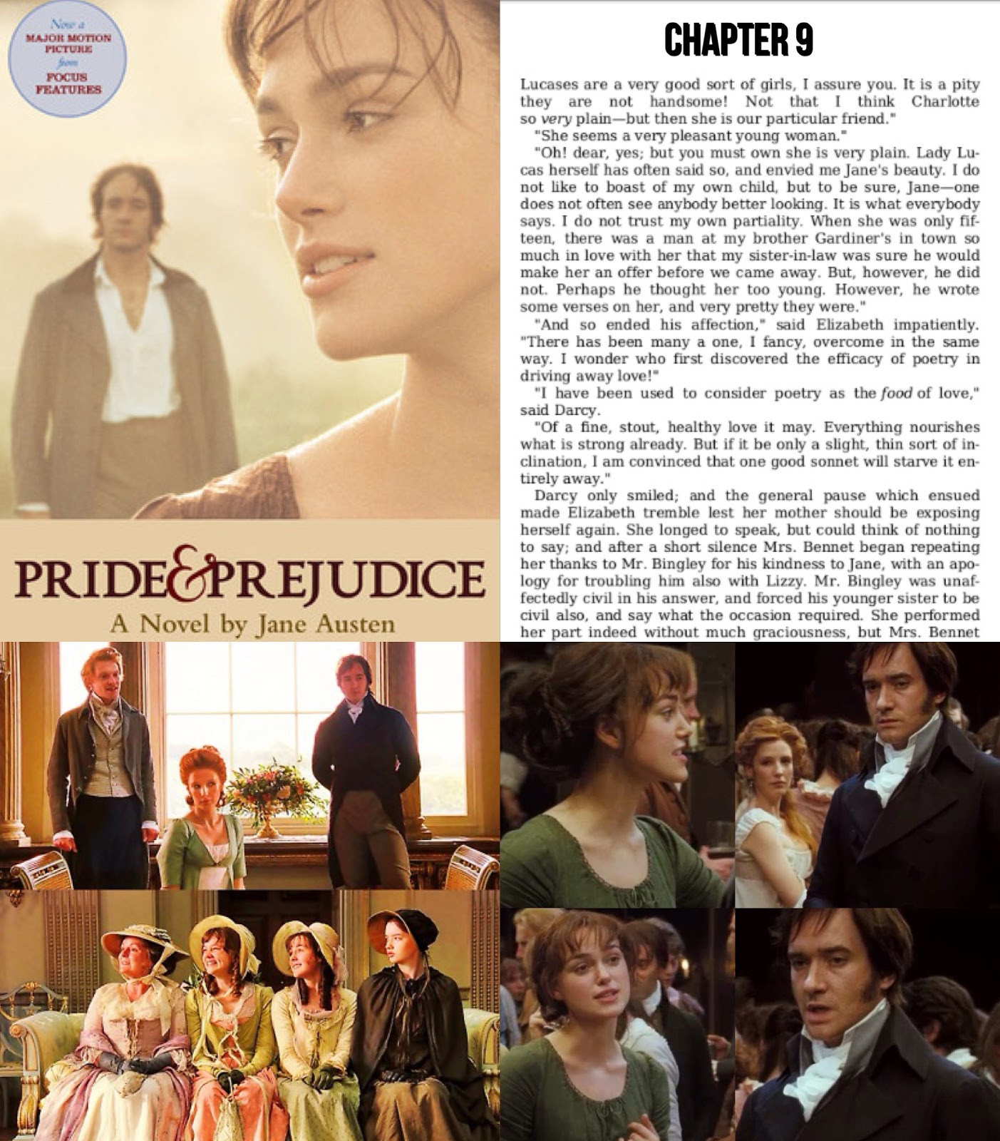 (chapters 18) And Moving On To Chapter 9, Which Was About Mrs Bennet  Embarrassing Jane And Lizzie In A Conversation With Mr Bingley And Mr  Darcy In