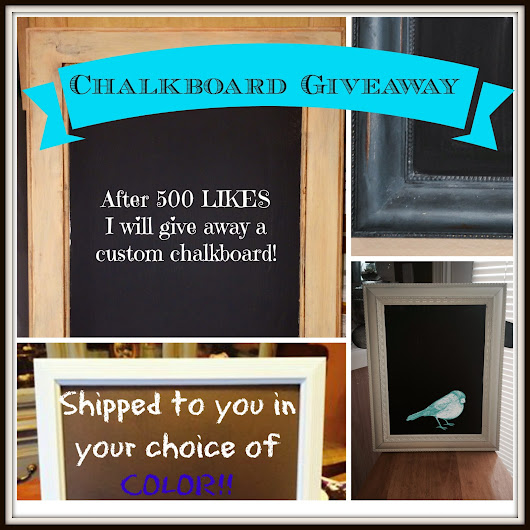 GIVEAWAY!! Free Chalkboard - Like My Facebook Page!
