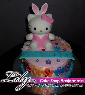 Lily Cake Shop Banjarmasin Kue Ultah Bentuk Hello Kity