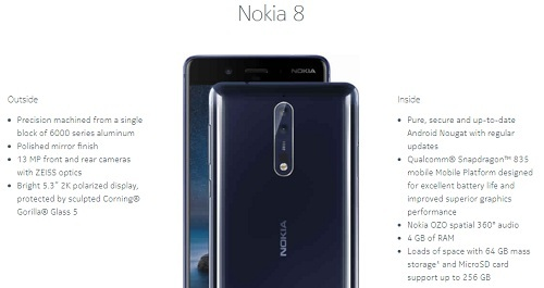 Nokia-8-features-specifications