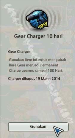 Gear Charger 10 Hari