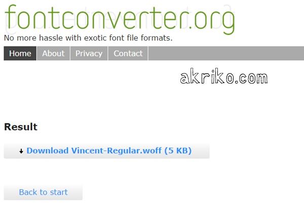 Cara Convert Font Secara Online