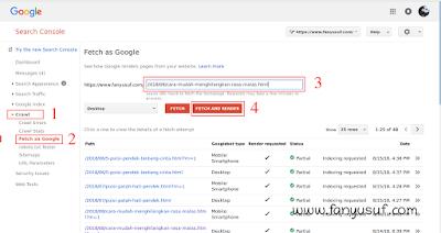 Cara Agar Postingan Blog Cepat Muncul di Google