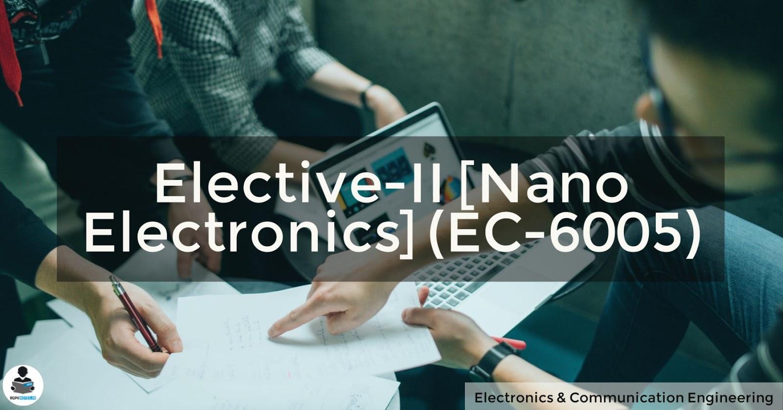 Nano Electronics (EC-6005)