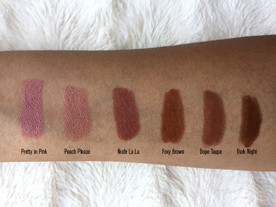 Mented lipsticks: nudes by and for Women of Color, Mented Cosmetics, Mented lipsticks, Mented Foxy Brown, Mented Nude La La, Mented Pretty in Pink, Mented Peach Please, Mented Dope Taupe, Mented Dark Night