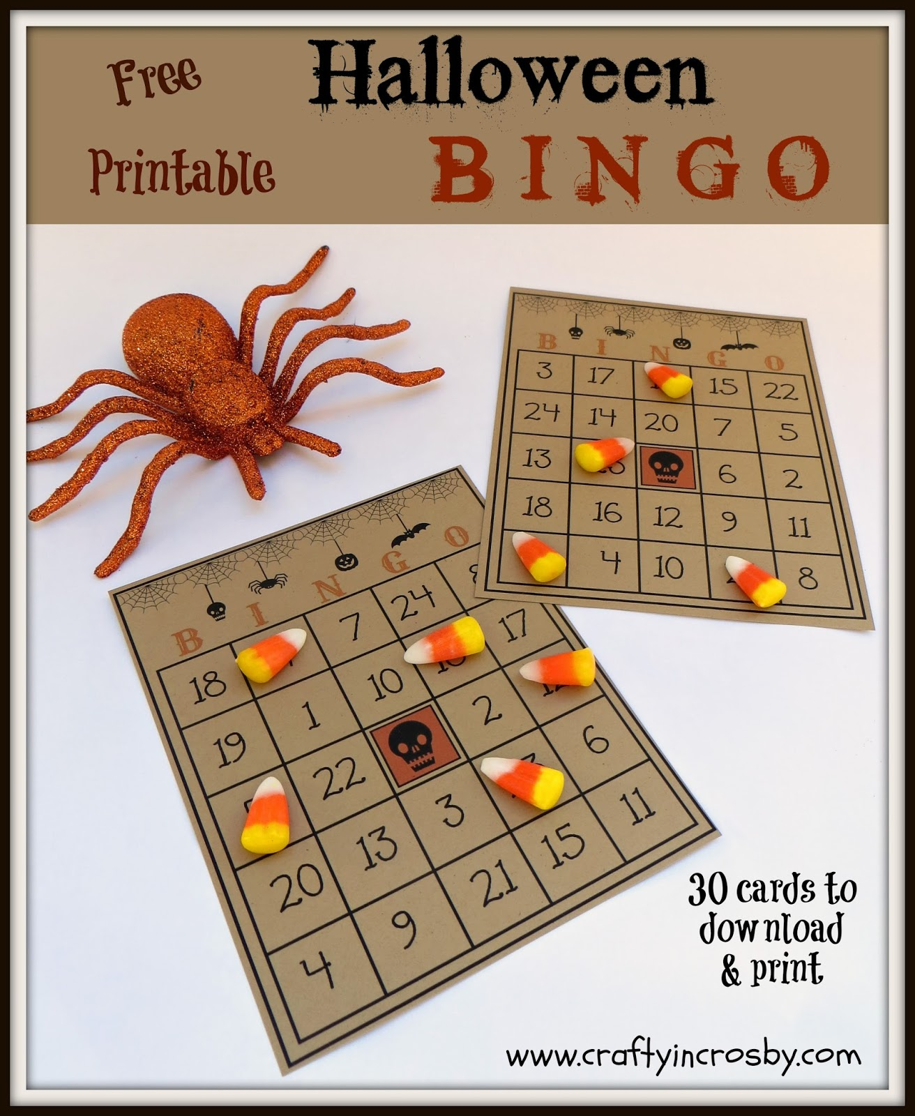graphic about 25 Printable Halloween Bingo Cards identified as Cunning inside of Crosby: Absolutely free Printable Halloween Bingo Recreation