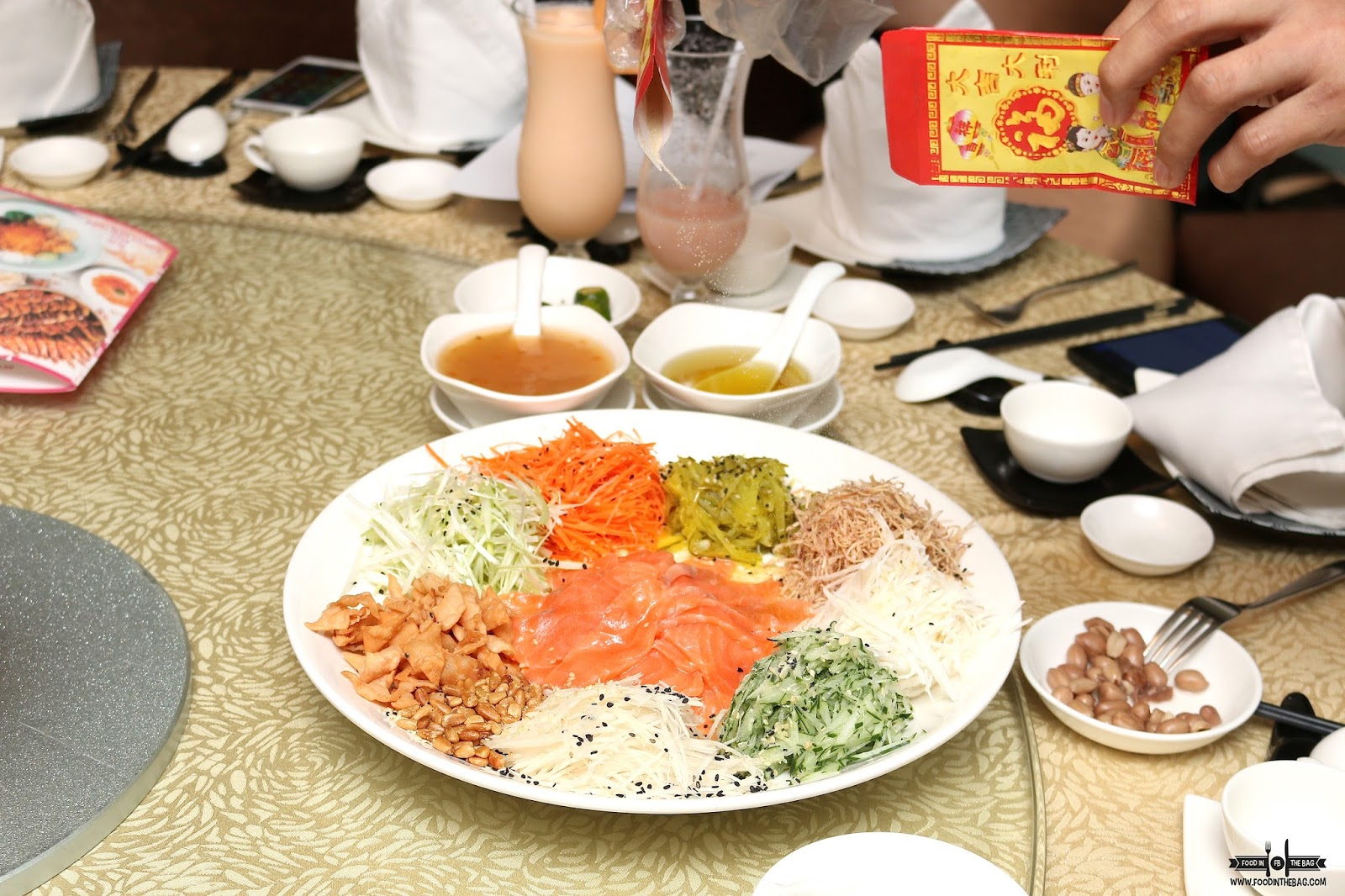 Crystal jade bgc chinese new year menu for 2016 food in the bag it is prepared by the staff and he explains the different symbolism of each ingredient buycottarizona Images