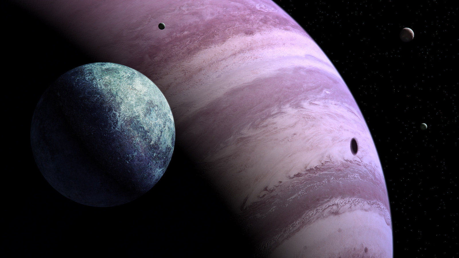 Gas Giants and Terrestrial Planets - Pics about space