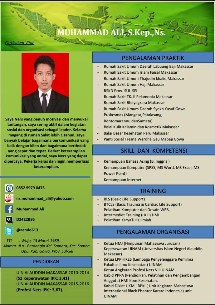 Perawat Indonesia Contoh Cv Curriculum Vitae Yang Menarik