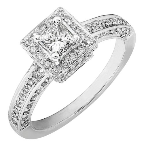 princess cut diamond engagement rings Fashion Solitaire