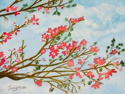 Silk asian flowers