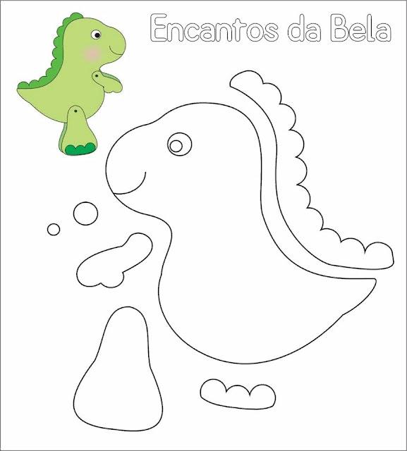 Dinossauro Baby Com Molde Para Imprimir Como Fazer