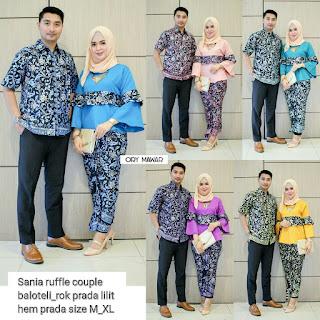 Batik Couple Sania Mawar Ruffle
