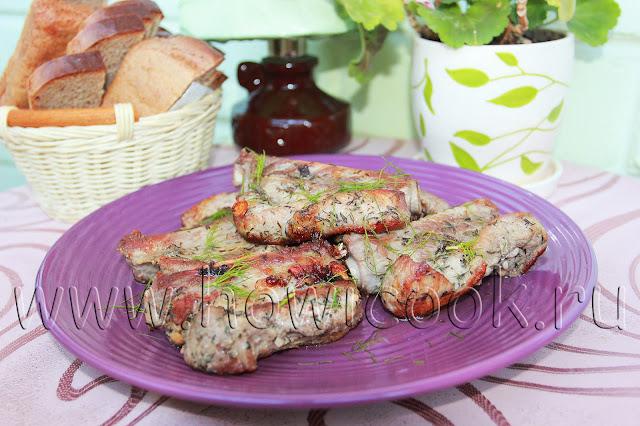 рецепт свиных ребрышек с тимьяном и чесноком