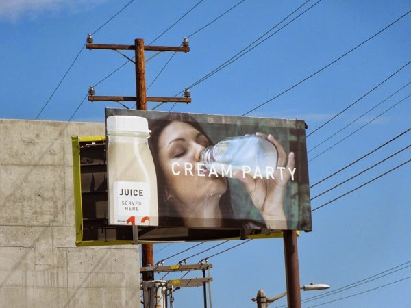 Juice Cream Party billboard