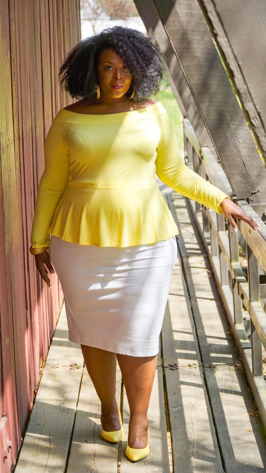 fashion to figure, ftf, fashion to figure peplum top, yellow peplum top, plus size shirts, plus size peplum tops