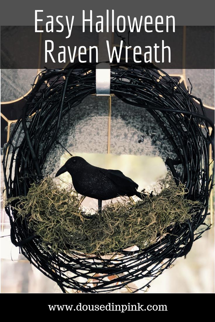 DIY Easy Raven Wreath