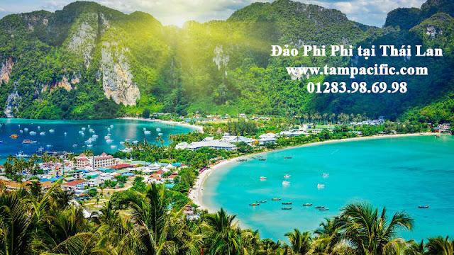 Đảo Phi Phi tại Thái Lan cũng siêu đẹp không kém