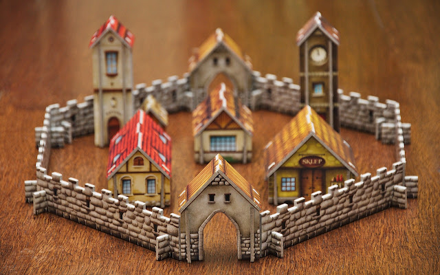 Fantasy town, game structure, rpg, tabletop