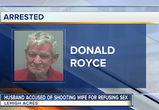 WEH DONE SIR!!! 76 year old man shoots 62 year old wife in the bum because she won't have sex with him