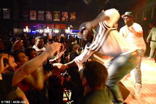 3p - 50 Cent Punches Female Fan After She Pulls Him Off Stage Later Seen Twerking On Stage (Video)