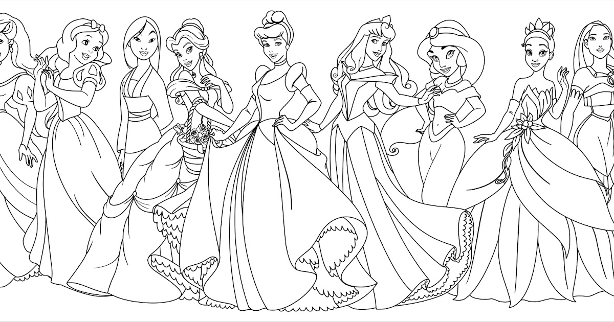 Dibujos Para Colorear Princesas Disney Jasmine: Disney Princess With Merida From Brave