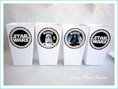cajitas para palomitas personalizadas star wars
