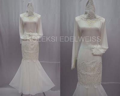 Camellia-Baju Kurung Moden NIkah Koleksi Baju  Pengantin Baru 2016  Warna Putih