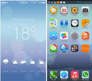 tema launcher android terbaik iphone 6 theme