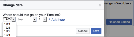 See How To Backdate Facebook Posts To As Far Back As 1907