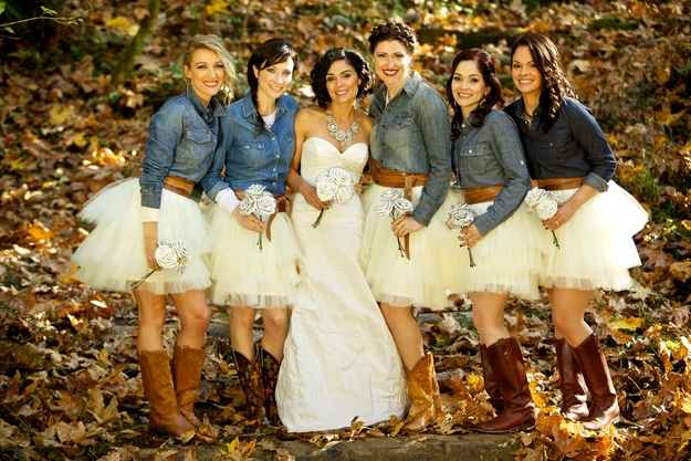 Formal Mismatched Country Bridesmaid Dresses