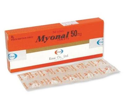 Thuốc giãn mềm cơ Myonal 50 mg