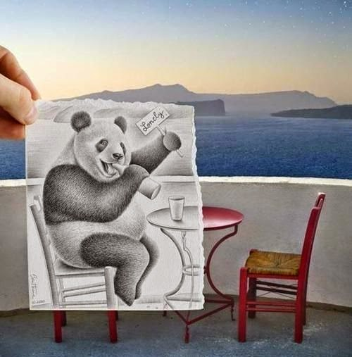 pandita hecho a dibujo