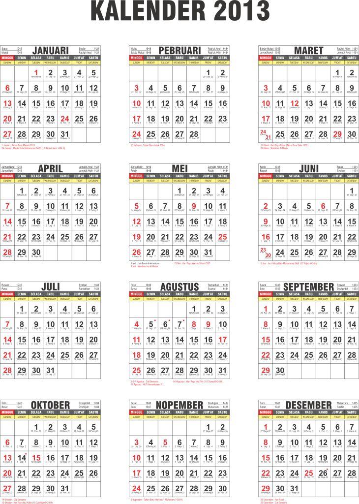 Kalender 2017 Indonesia Cdr : kalender, indonesia, Archives, Fasrdb