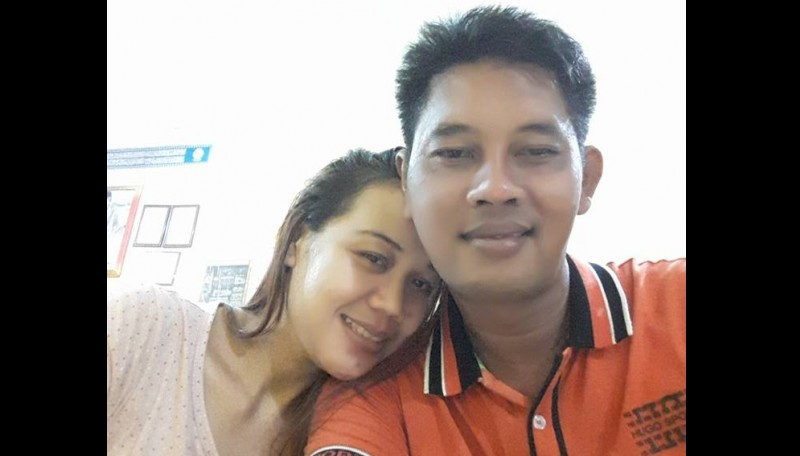 Foto mesra Wi Wied dan kekasihnya