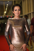 Actress Catherine Tresa in Golden Skin Tight Backless Gown at Gautam Nanda music launchi ~ Exclusive Celebrities Galleries 092.JPG