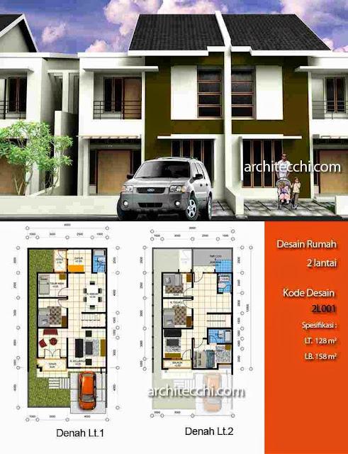 Desain Rumah Minimalis 2 Lantai Beserta Denahnya Gambar Foto