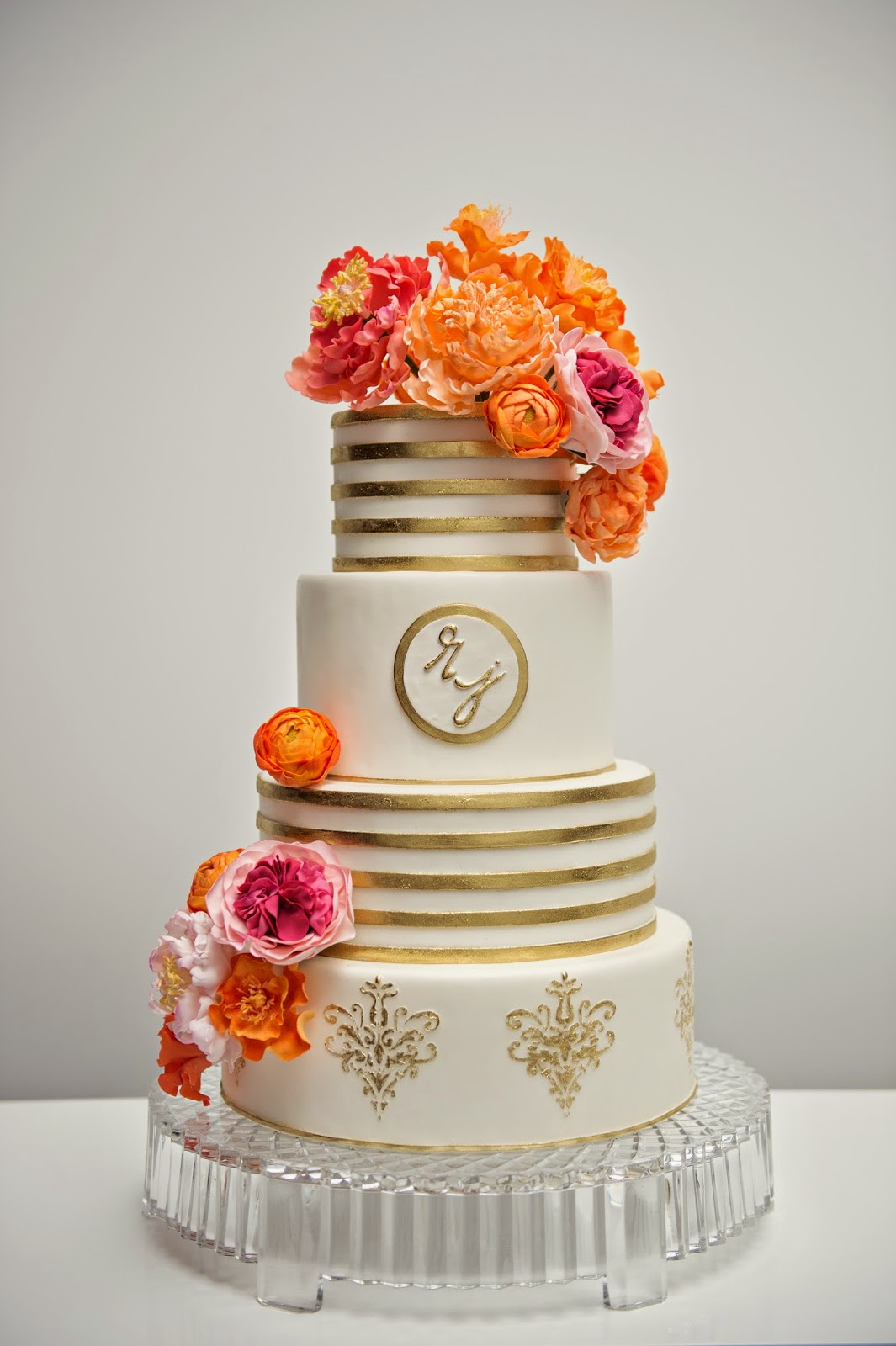 orange and gold wedding cake for the of cake by garry amp parzych modern pink 18035
