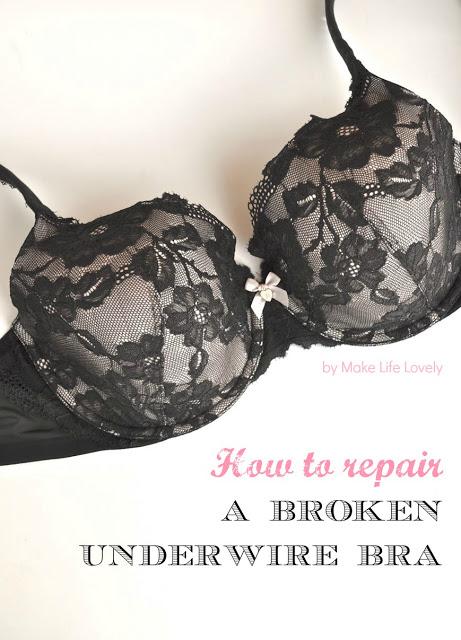 black underwire bra
