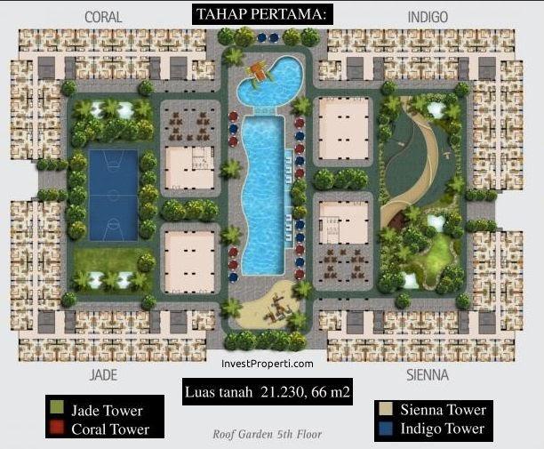 Site Plan Apartemen Kota Ayodhya Tahap Wer Jade Coral Sienna
