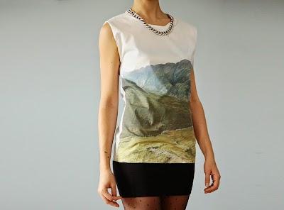Camiseta con paisaje impreso tutorial