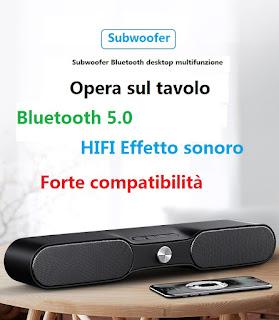soundbar altoparlante bluetooth 5.0 + EDR andowl