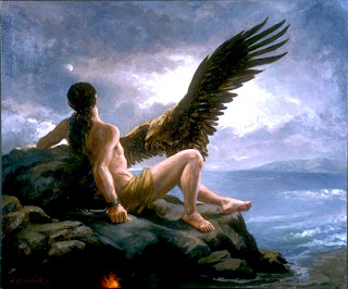 Prometheus and Eagle - Artist: Elsie Russell - Source: pantheon.org