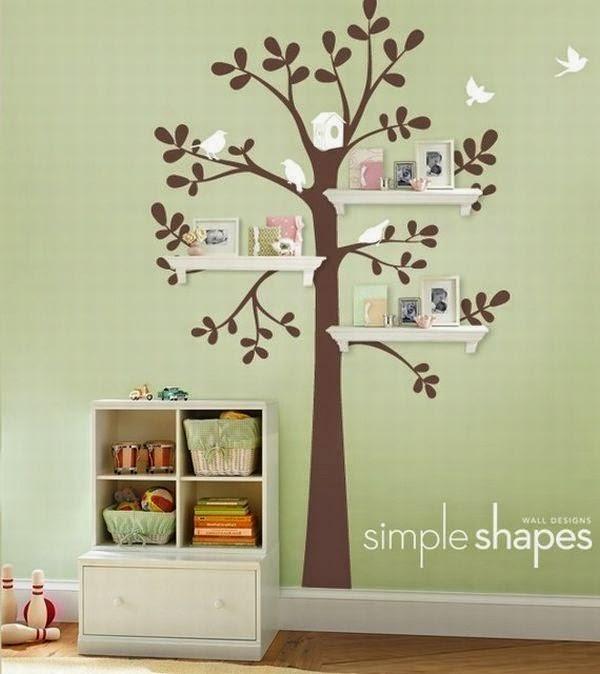 11 Ideas Con Arboles Para La Recamara De Tus Hijos Quiero Mas Diseno - Arboles-de-decoracion