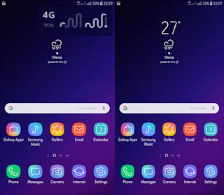 Download Tema Samsung Galaxy S9 Plus Untuk Semua Type Android Oreo dan Nougat